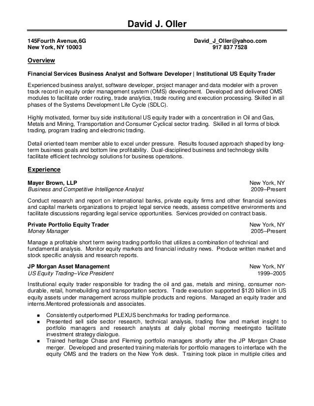 Securities Trader Cover Letter] Stockbroker Cover Letter Example .