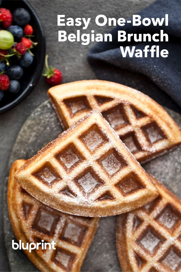 Easy One-Bowl Belgian Brunch Waffles