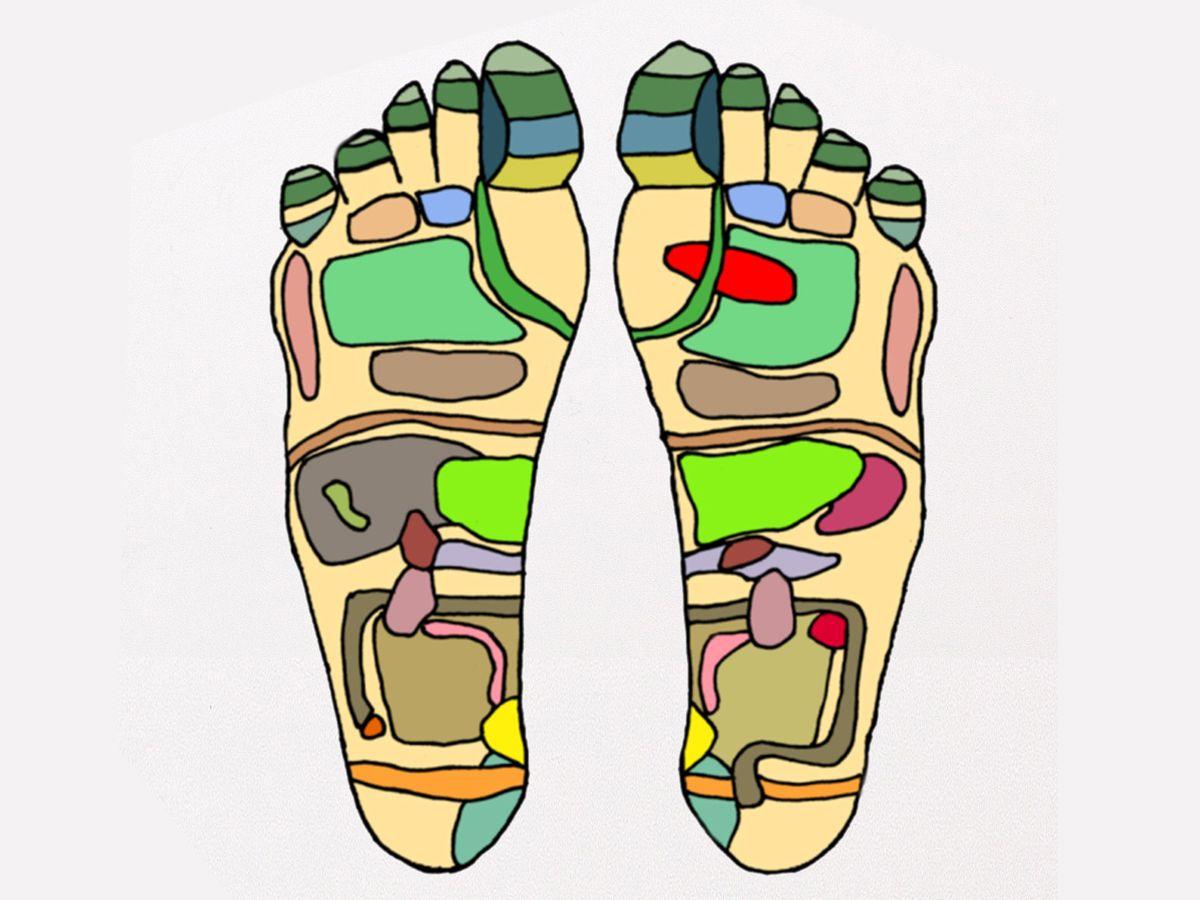 Рефлекторные зоны на ступнях. https://pixabay.com