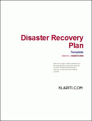 Disaster Recovery Plan Template Sample Disaster Recovery Plan - disaster recovery plan template