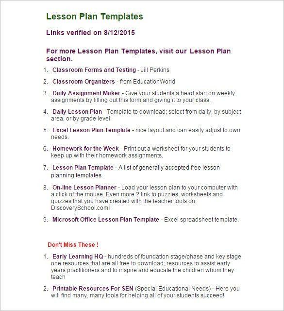 lesson plan template doc