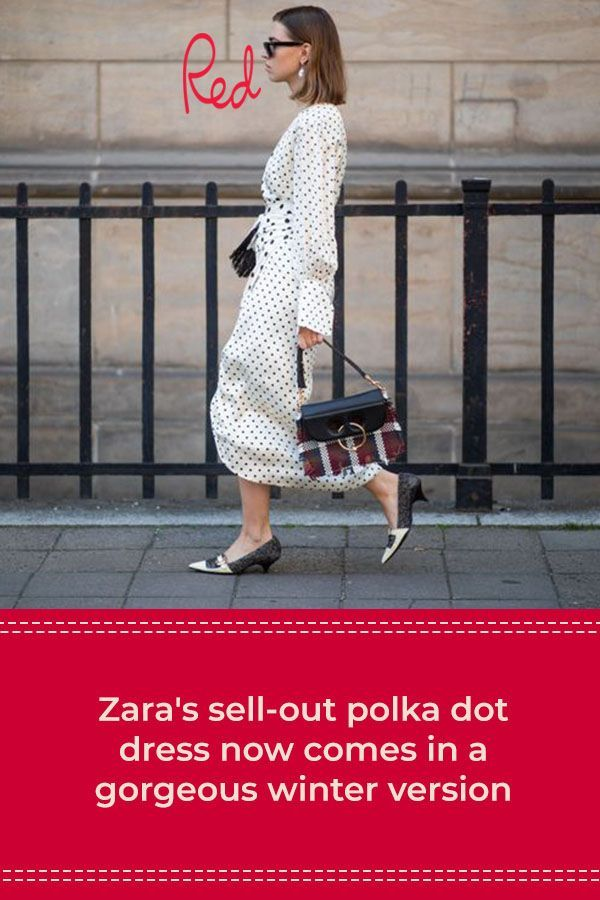 Zara's sell-out polka dot dress now comes in a gorgeous winter version