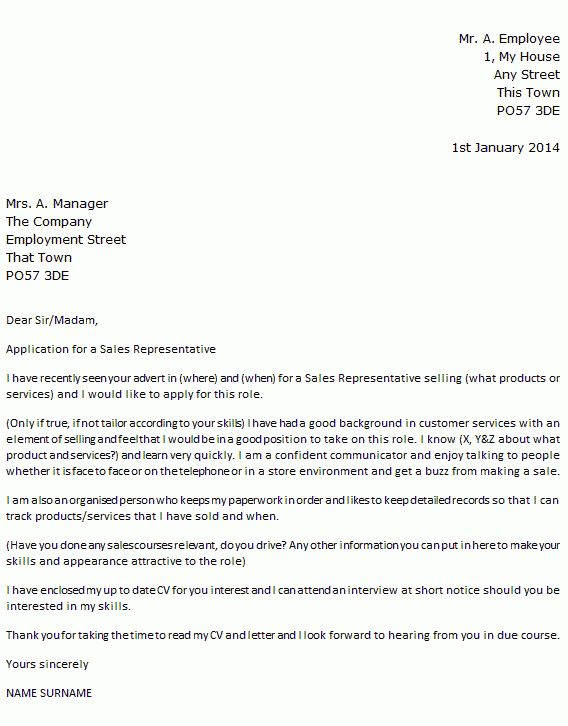 Cover Letter Examples Sales Representative Medical Sales Sample - sample cover letter for sales job