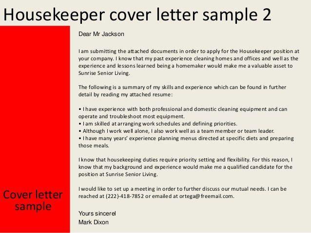 Example Resume For Housekeeping Position] Best Housekeeper ...