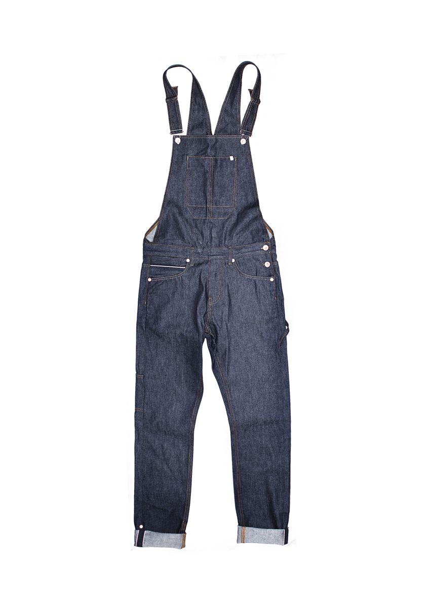 &SONS Men's Union Overalls   Made From 13oz Blue Selvedge Denim