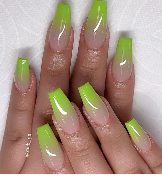 Amazing green neon tips