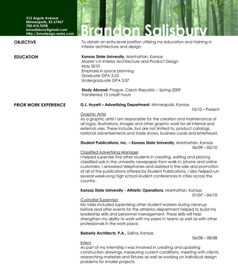 interior design resume objective examples examples of resumes