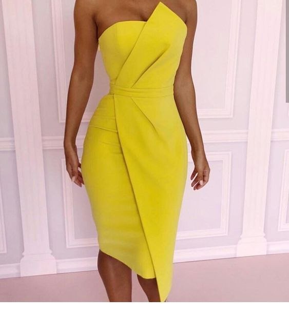 The yellow dress design