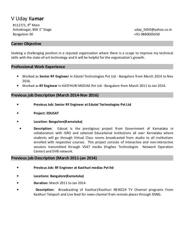 Rf Engineer Job Description Job Description The Rf Hardware - project engineer job description