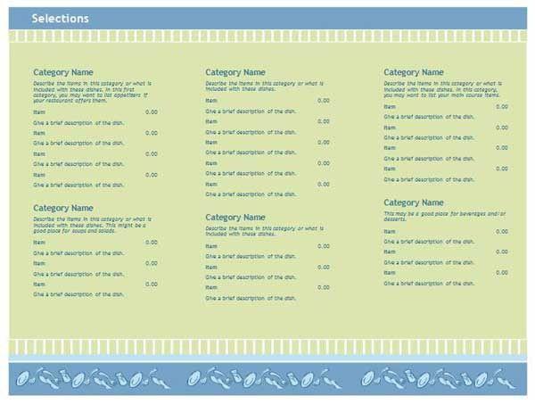 Restaurant Menu Templates Word Free Menu Template 21 Free Word - free restaurant menu template word