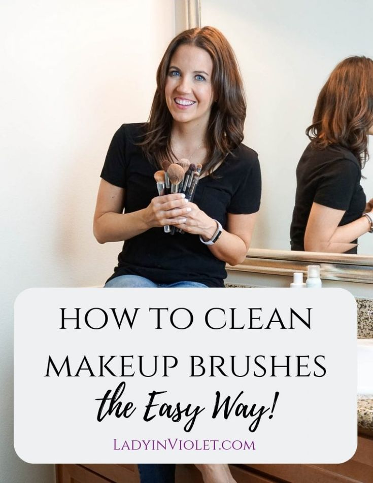 easy way to clean makeup brushes   Houston Beauty Blogger Lady in Violet #cleaningtips #makeuptips #beauty