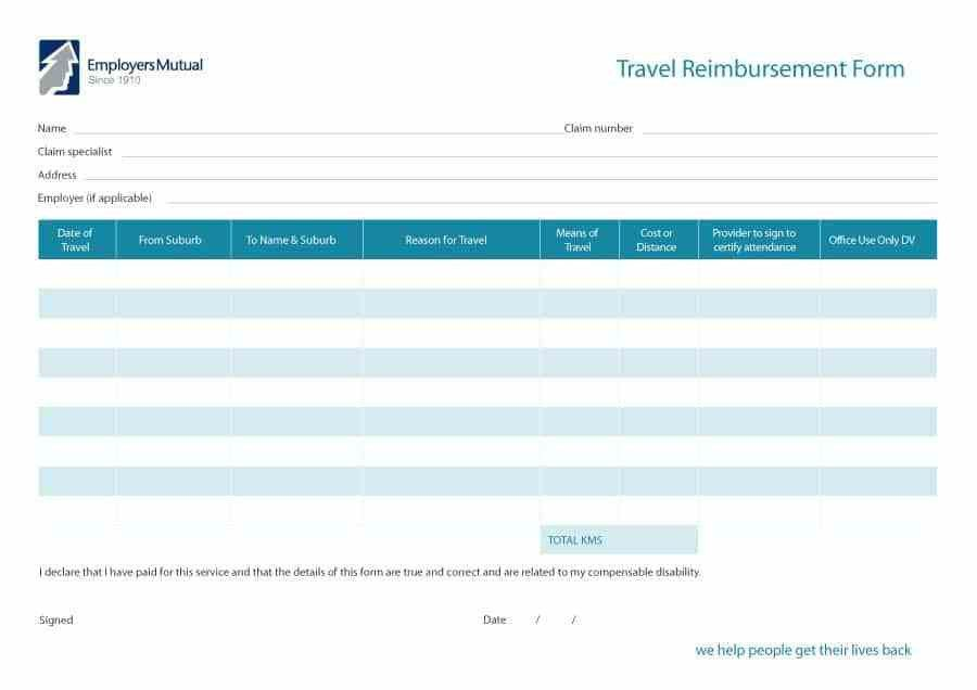Expense Reimbursement Form Templates  BesikEightyCo