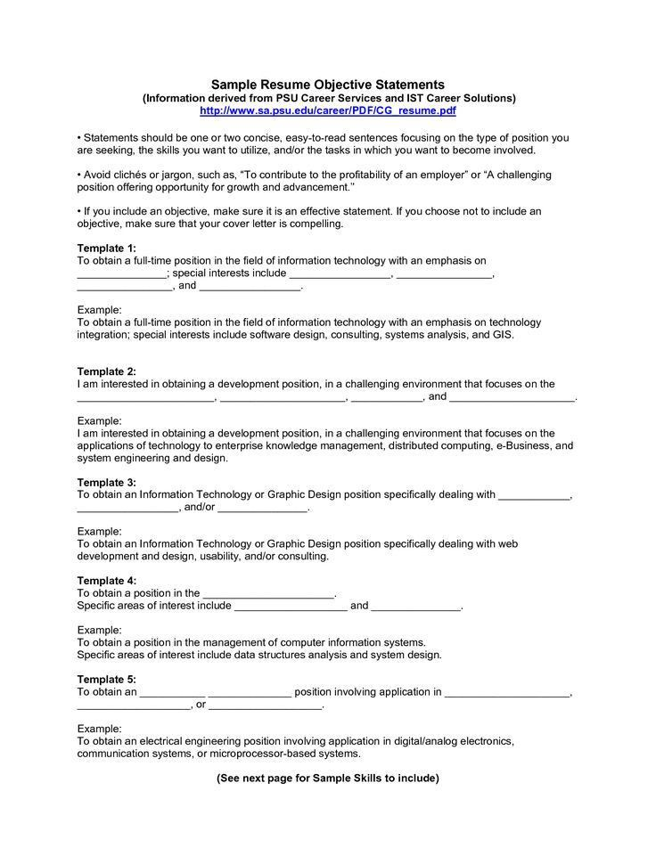 Resume Examples Of Objectives Sample Objectives Resumes Sample - example of objectives for resume