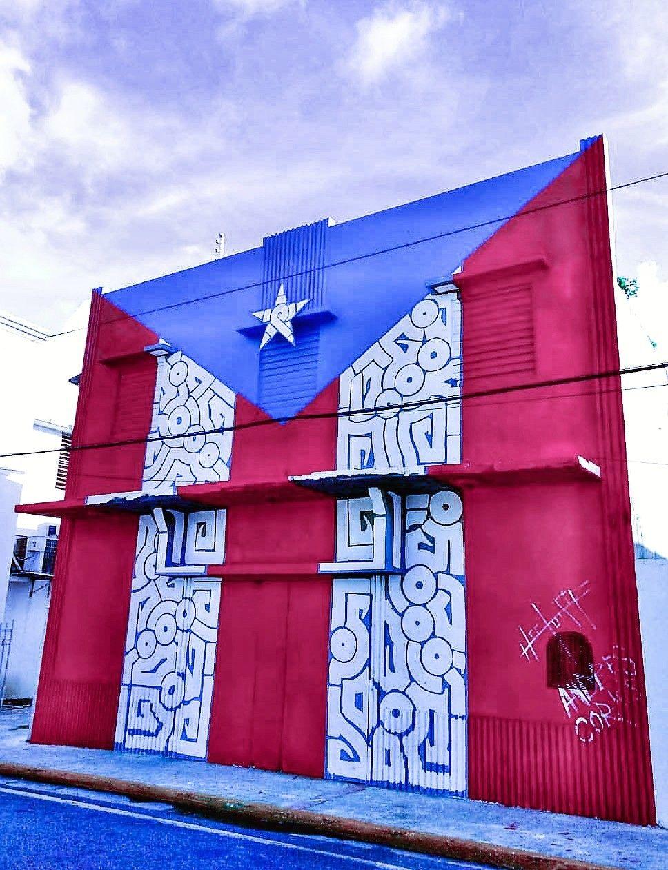 Bandera Pintada Por Hector Pr En Florida Puerto Rico Puerto Rico