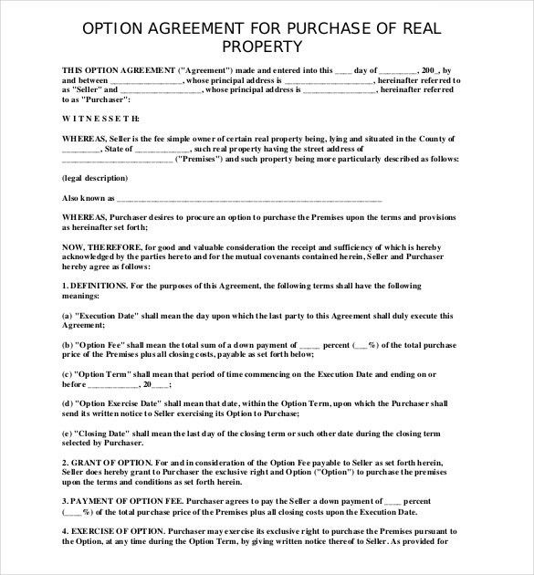 Property Agreement Template Property Agreement Template Microsoft - sample purchase and sale agreement template