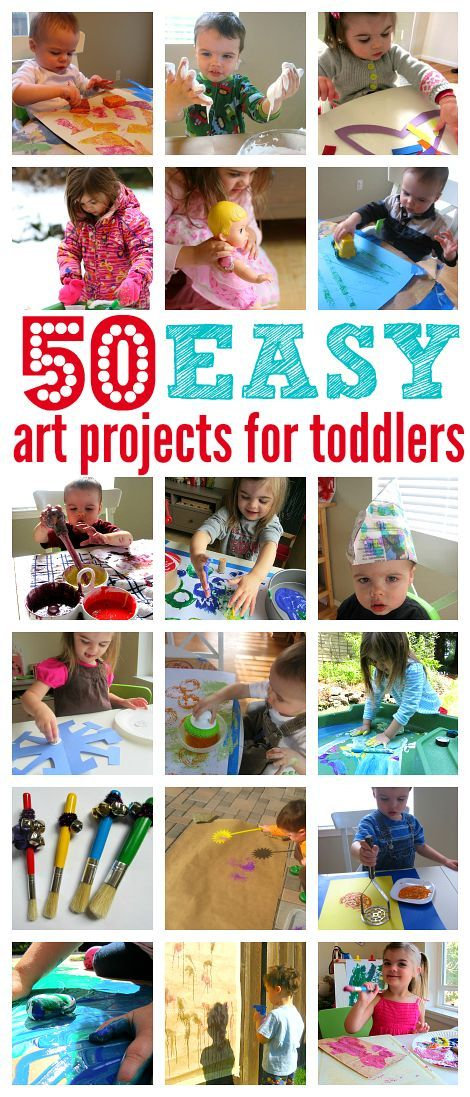 50 Easy Art Projects For Toddlers - No Time For Flash Cards