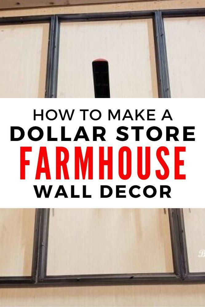 DIY Dollar Tree Farmhouse Decor Idea