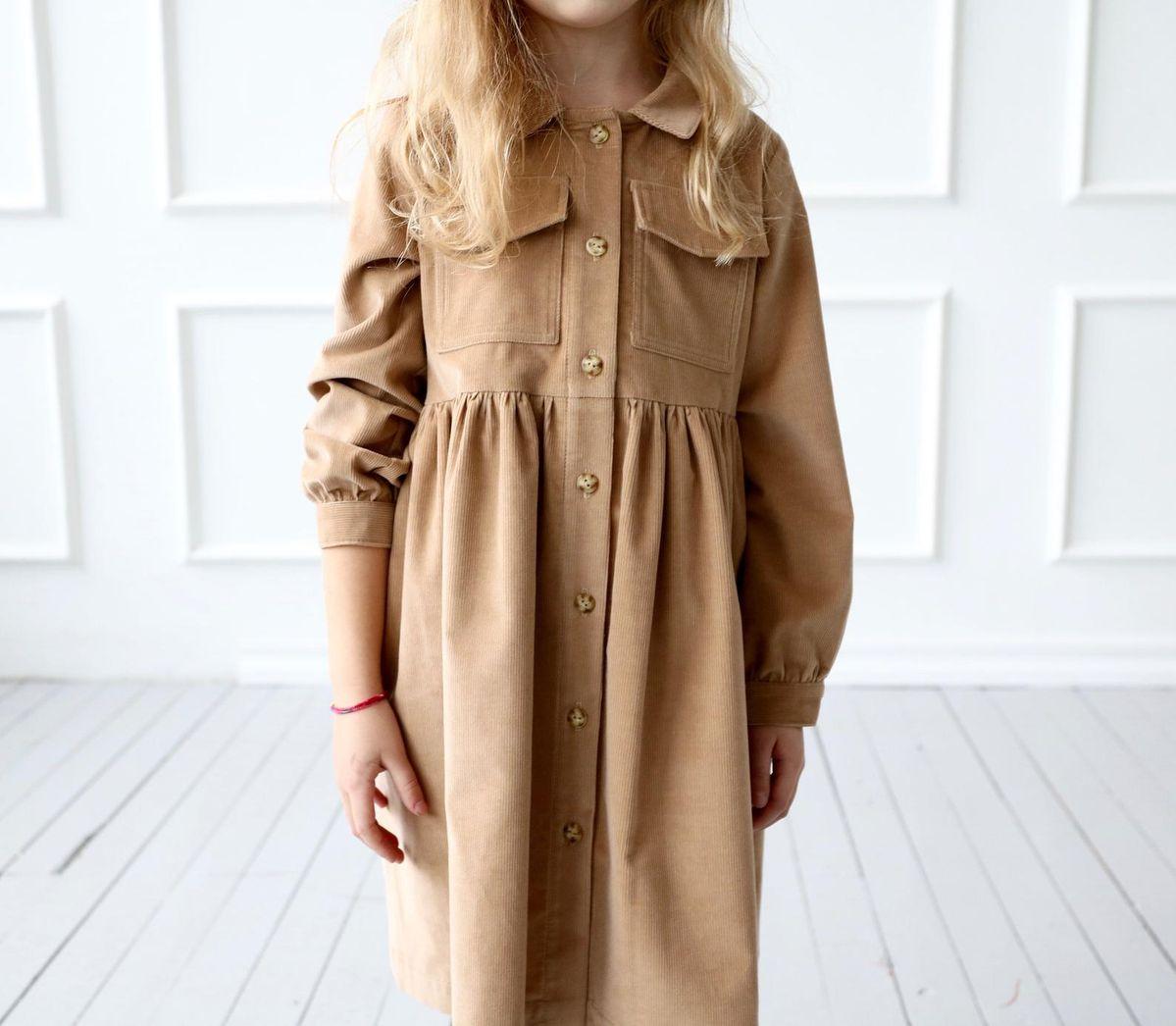 Velvet shirt dress for girl/OFFON CLOTHING
