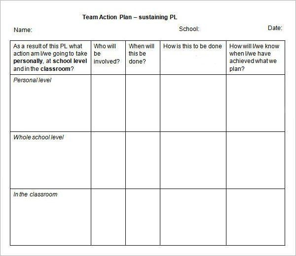 sales action plan template efficiencyexperts - sample sales plan