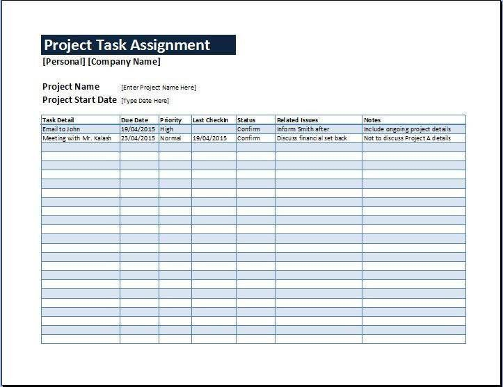 Excel Project Plan Template Free Excel Project Management - project plan example