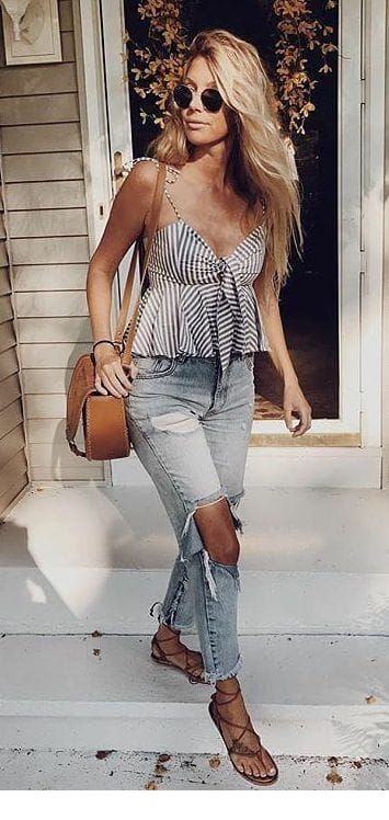 Nice summer top and jeans