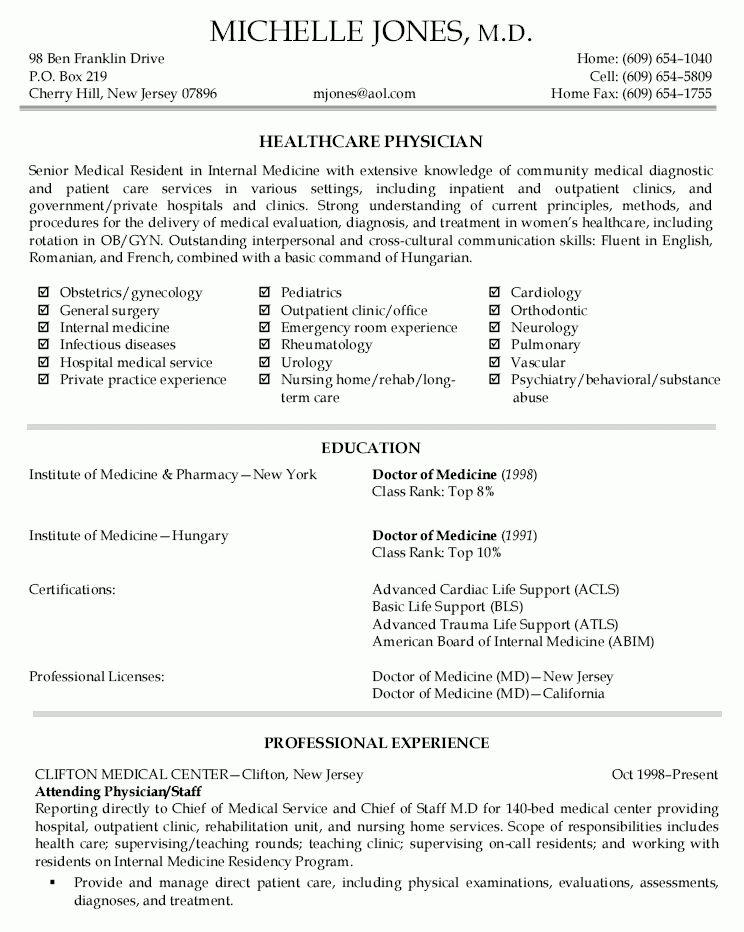 Doctor Resume Example Medical Doctor Resume Example Sample Medical Doctor Resume Example Sample Doctor Resume Template Doctor Resume Templates 15 Free Samples