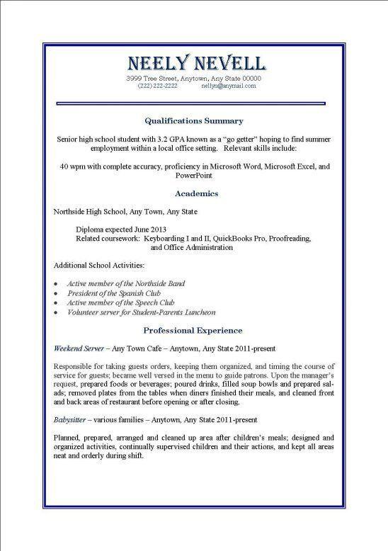 First Job Resume Template Job Resume Template Free Free Resume - resume for first job examples