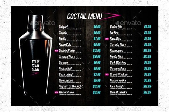 Drinks Menu Template Free 23 Drink Menu Templates Free Sample - sample drink menu template