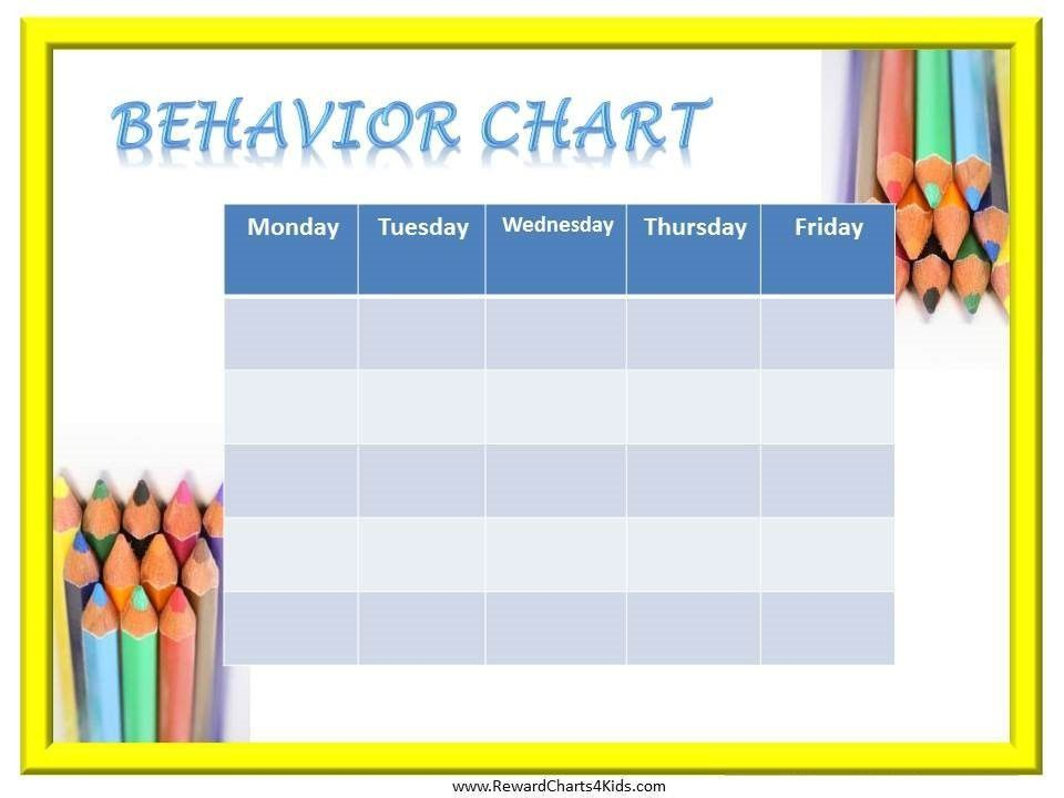Kids Behavior Chart Template Best 25 Kids Behavior Charts Ideas - printable behavior chart