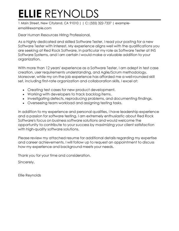 Cover Letter For Qa Tester Video
