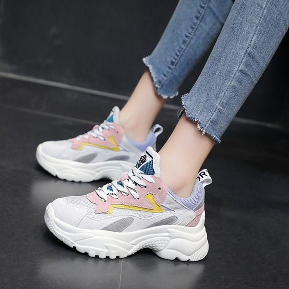 2019 Summer Mesh Breathable Color Block Sneakers – Abershoes