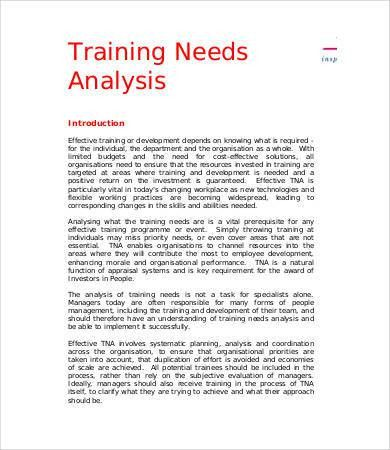Needs Assessment Templates Needs Assessment 8 Free Download For - sample needs analysis