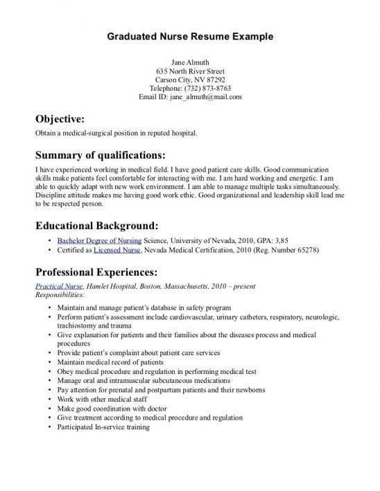 medical surgical rn resumes