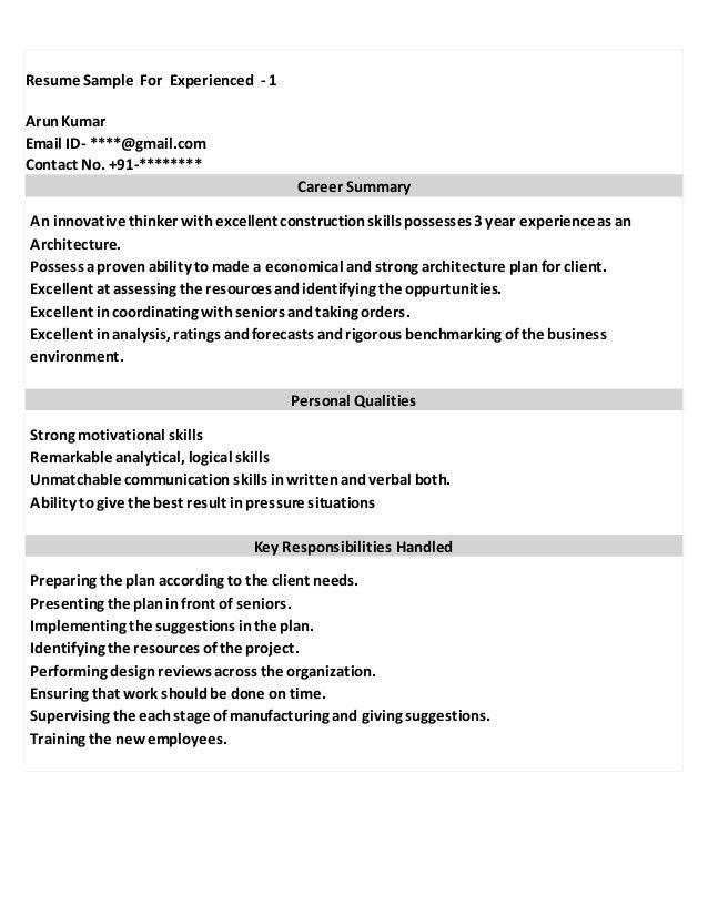 Cfo Resume Sample For A