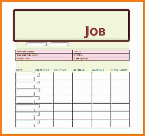 Excel Job Sheet Template Sample Job Sheet Template For Ms Excel - job sheet example