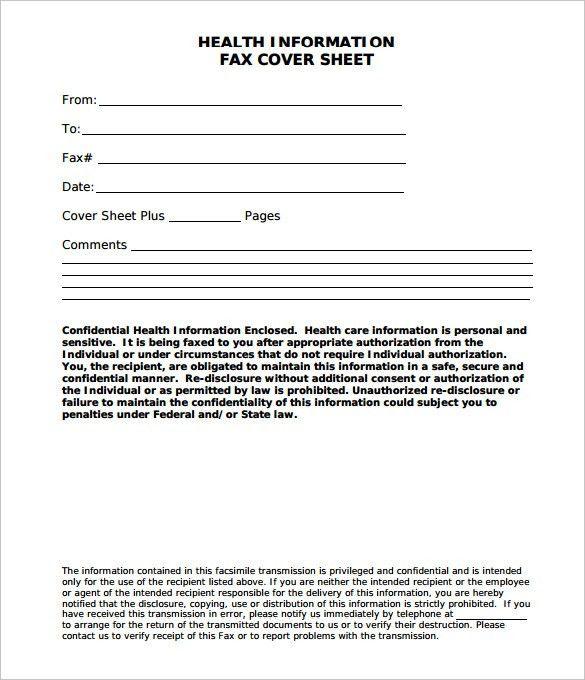 10 fax cover sheet templates free sample example format - sample cute fax cover sheet