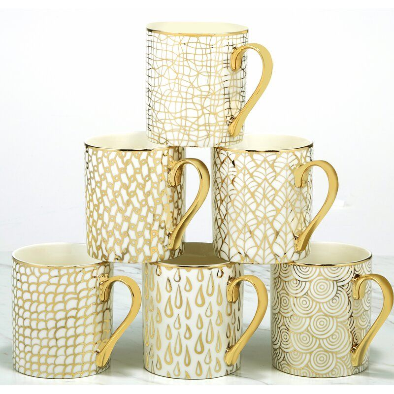 Meader 6 Piece Coffee Mug Set