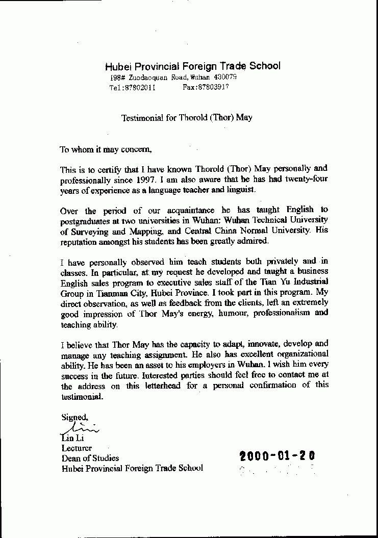 Sample Professional Letter Of Recommendation For Job Letter Of - law school recommendation letter sample
