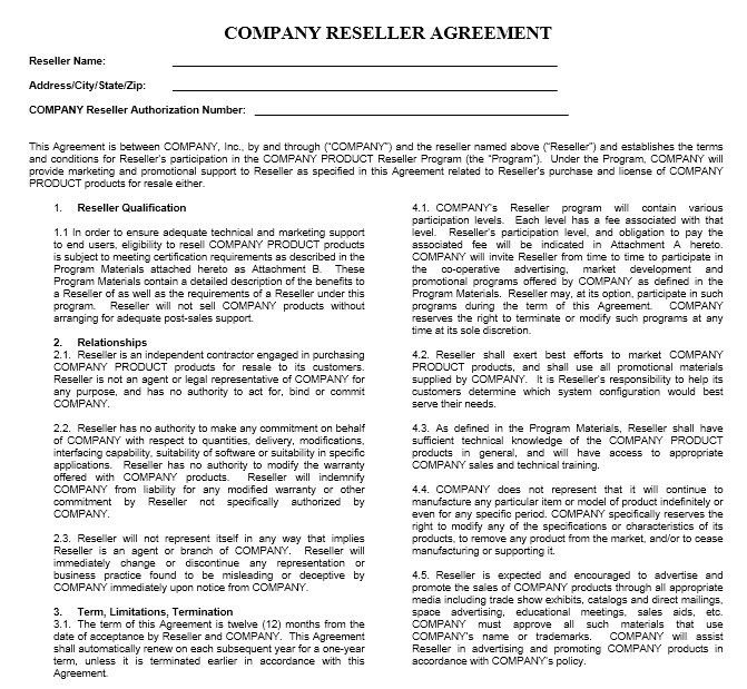Indemnity Agreement Template Indemnity Agreement Template Form - sample reseller agreement