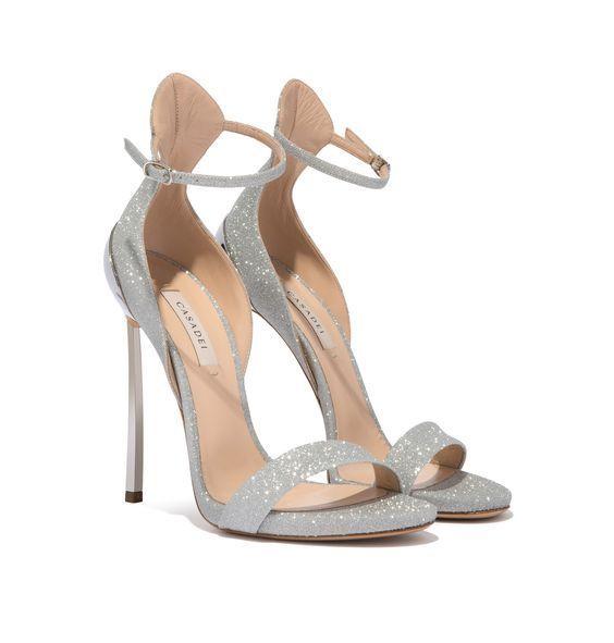 Glam silver glitter sandals