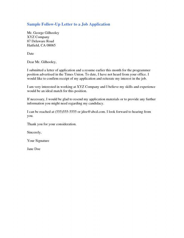 Resume Follow Up Email Sample