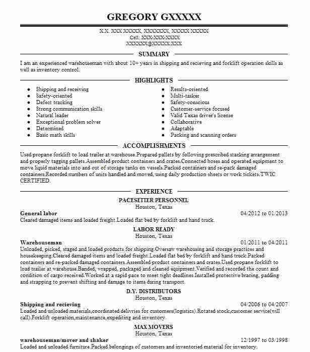 Resume Objective General Labor General Resume Examples General - general labor resume examples