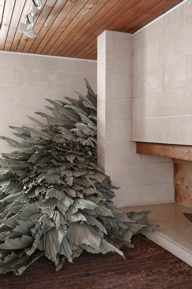 Dried Palm Leaf Installation