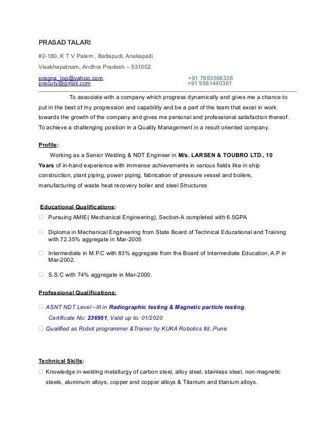 Welding Engineer Resume TP  Welder Resume