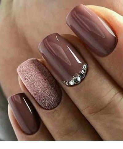 My future brown manicure
