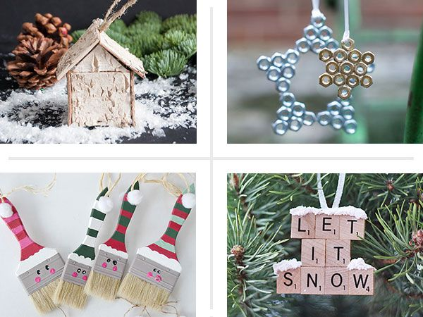 16 DIY and Salvage Ornament Ideas Genius, crafty ideas for accessorizing your Christmas tree, from our favorite bloggers