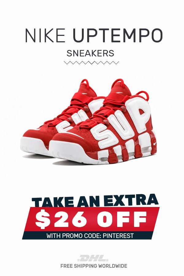 Buy cheap Nike UPTEMPO Supreme Varsity Red sneakers #sneakers #fashion #shoes #sport #men #woman #style #Nike #Uptempo #SupremeVarsityRed