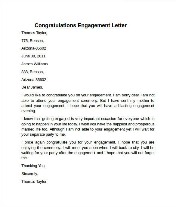 Letter Of Engagement Template Free Engagement Letter Sample - engagement letter