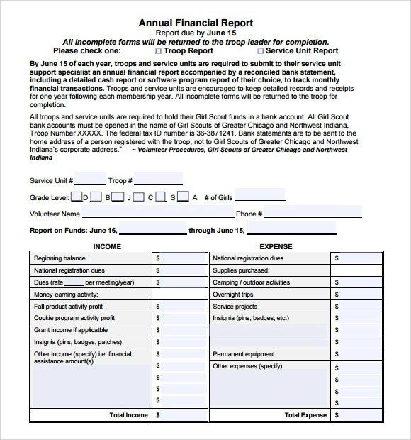 Financial Report Template Word Financial Report Template 10 Free - sample financial report