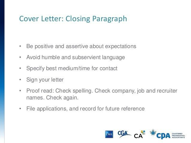 cover letter closing statements